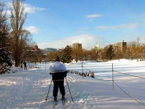 2012年1月9日歩くスキー菖蒲池東岸