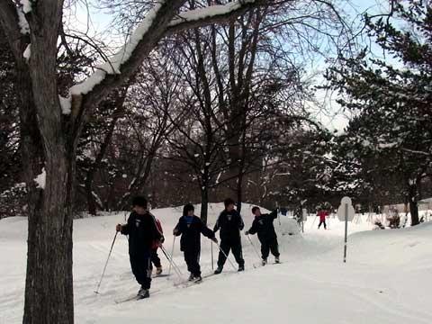 2012年1月28日歩くスキー芝生広場出口
