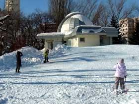 2012年1月14日天文台とスキー