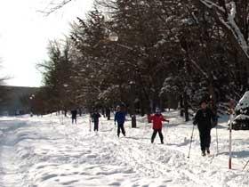 2012年1月28日歩くスキー・ボート乗場へ