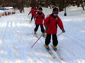 2012年1月28日歩くスキー・菖蒲池東