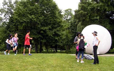 中島公園彫刻クイズラリー